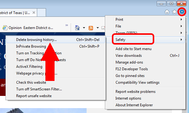 Clear cache for IE version 9, 10 and 11 on Windows PC